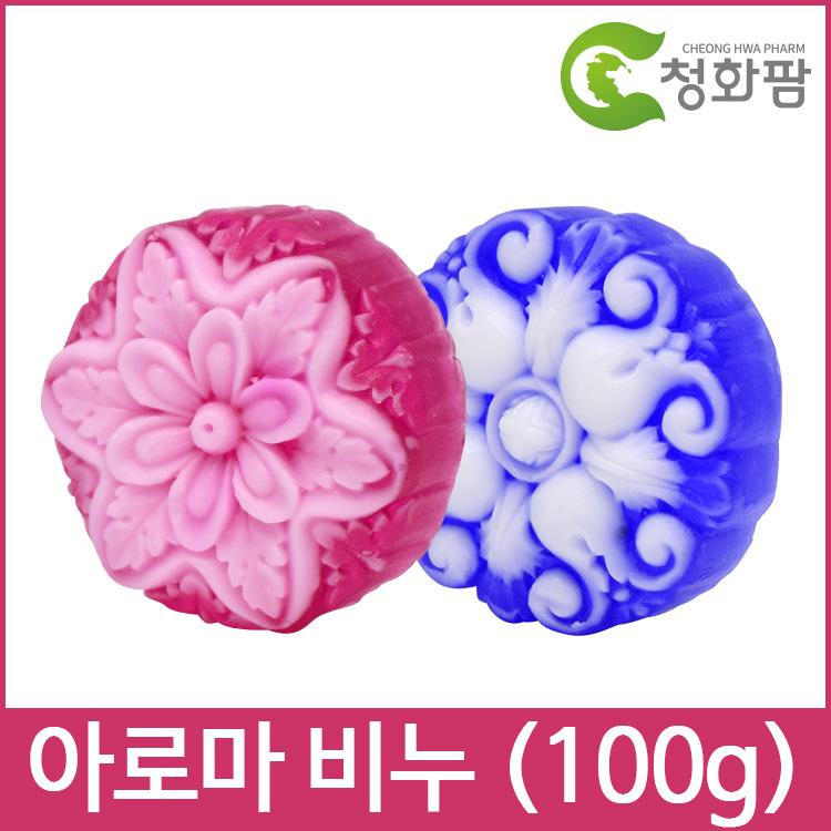 청화팜 아라향 천연아로마비누 (100g) - 유노하나비누