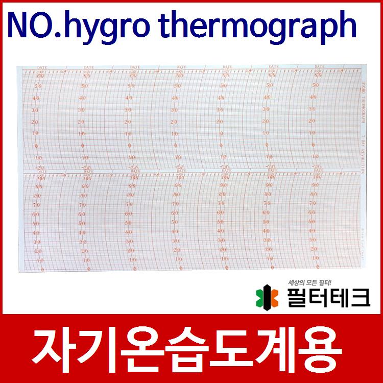 산업용 자기온습도계 기록지 NO.HYGRO THERMOGRAPH (7일용)