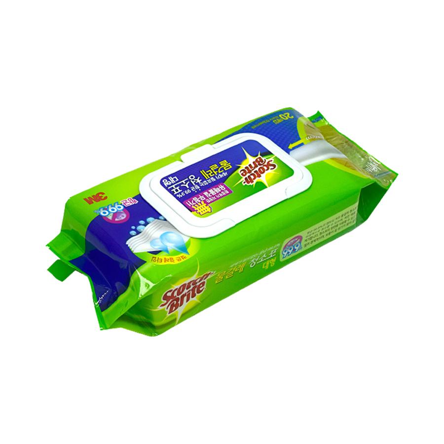 3M 물걸레 청소포 대형 20매 스위퍼키트겸용 더블액션