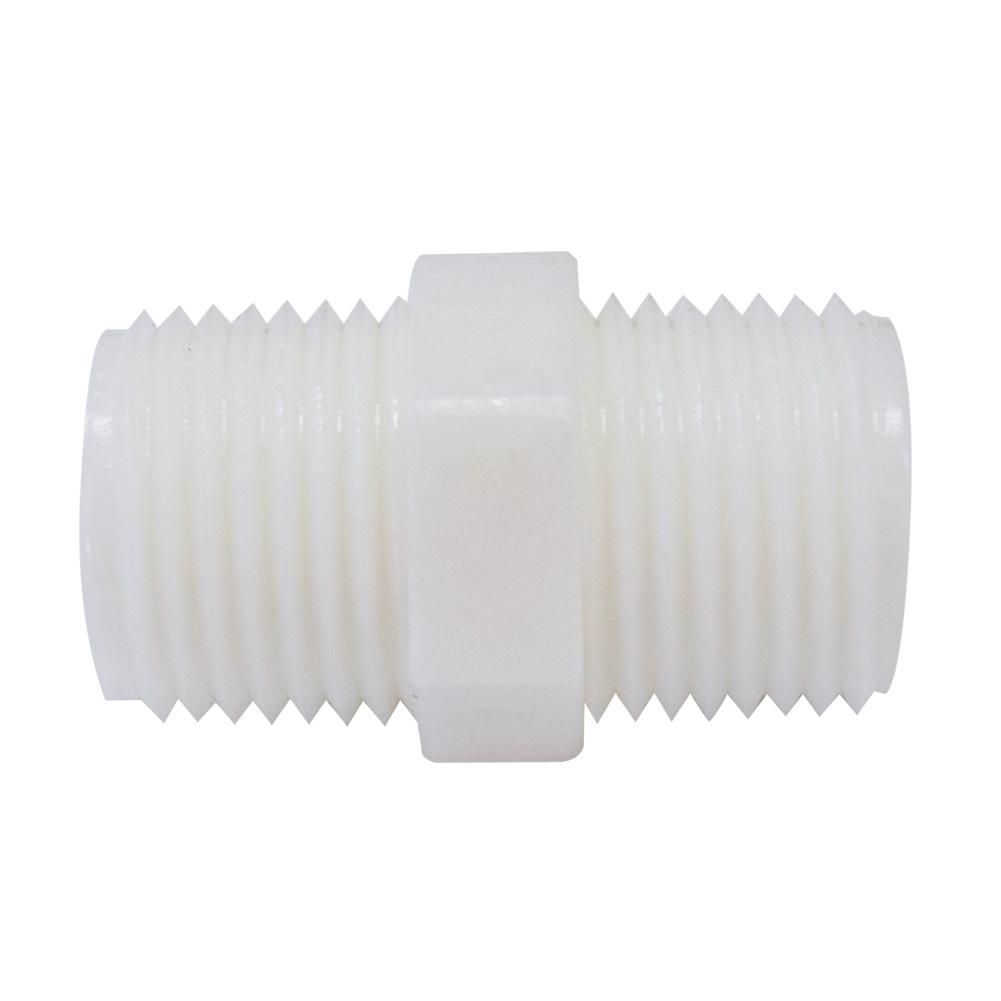 """삼개월 - 하우징연결부품 플라스틱 니플 1/2(18mm) 나사형 - Housing linked parts - Plastic nipple 1/2"""" / water, oil, air"""