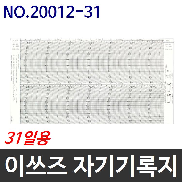 이쓰즈 TH-27R용 자기온습도기록지 NO.20012-31 31일