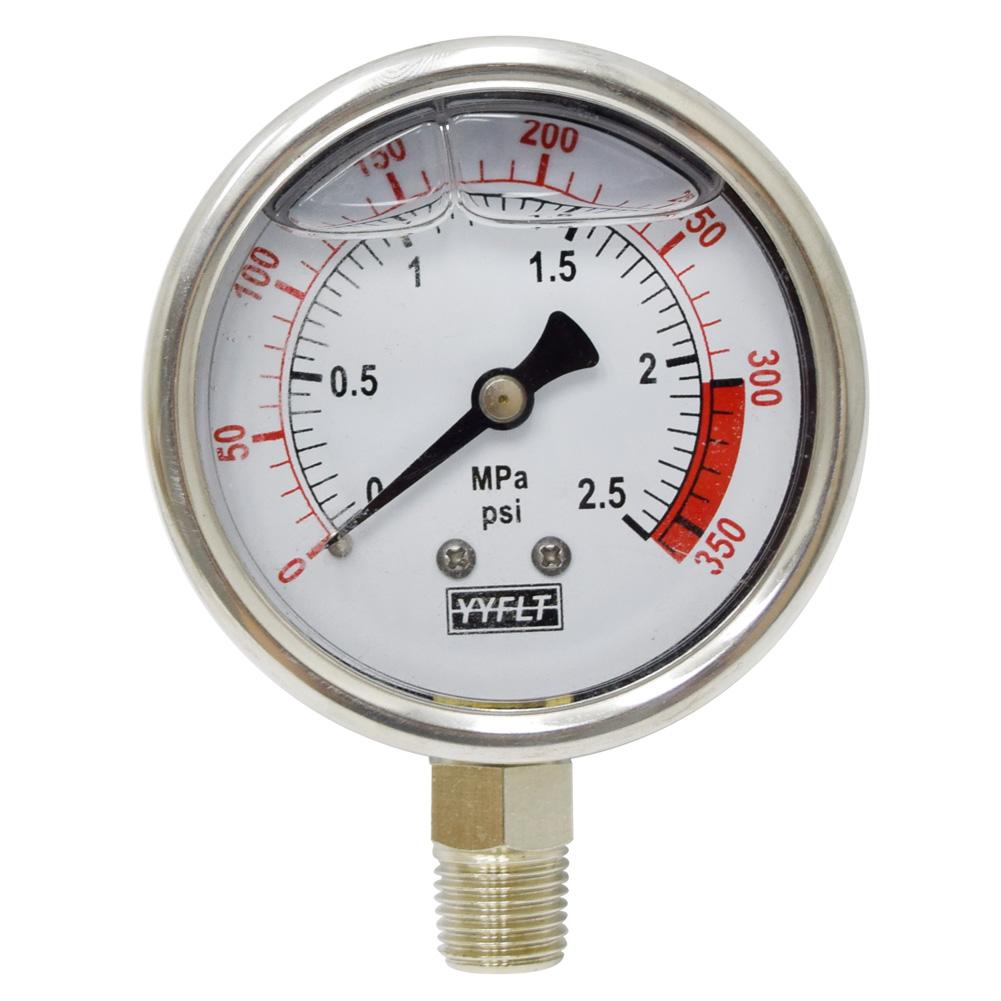 오일충만식 압력계 관로식 직경60 YN60-2.5MPa