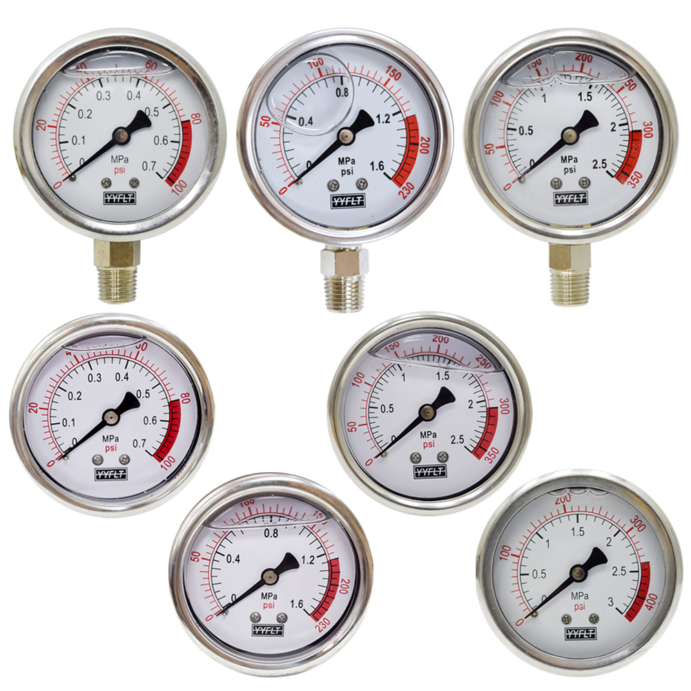 오일충만식 압력계 판넬식 관로식 직경60 0.7~3.0MPa