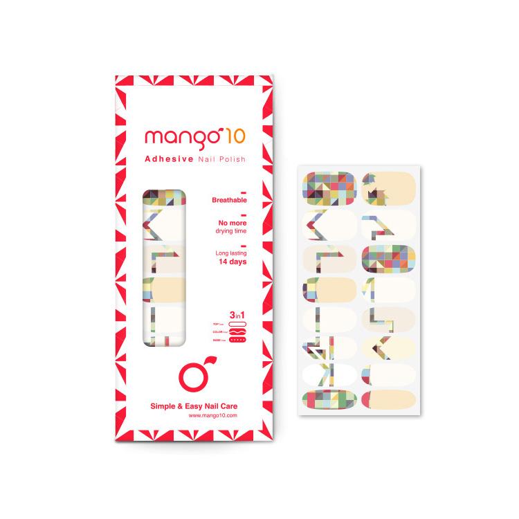 망고텐 붙이는 매니큐어 패턴모자익 MGS-006