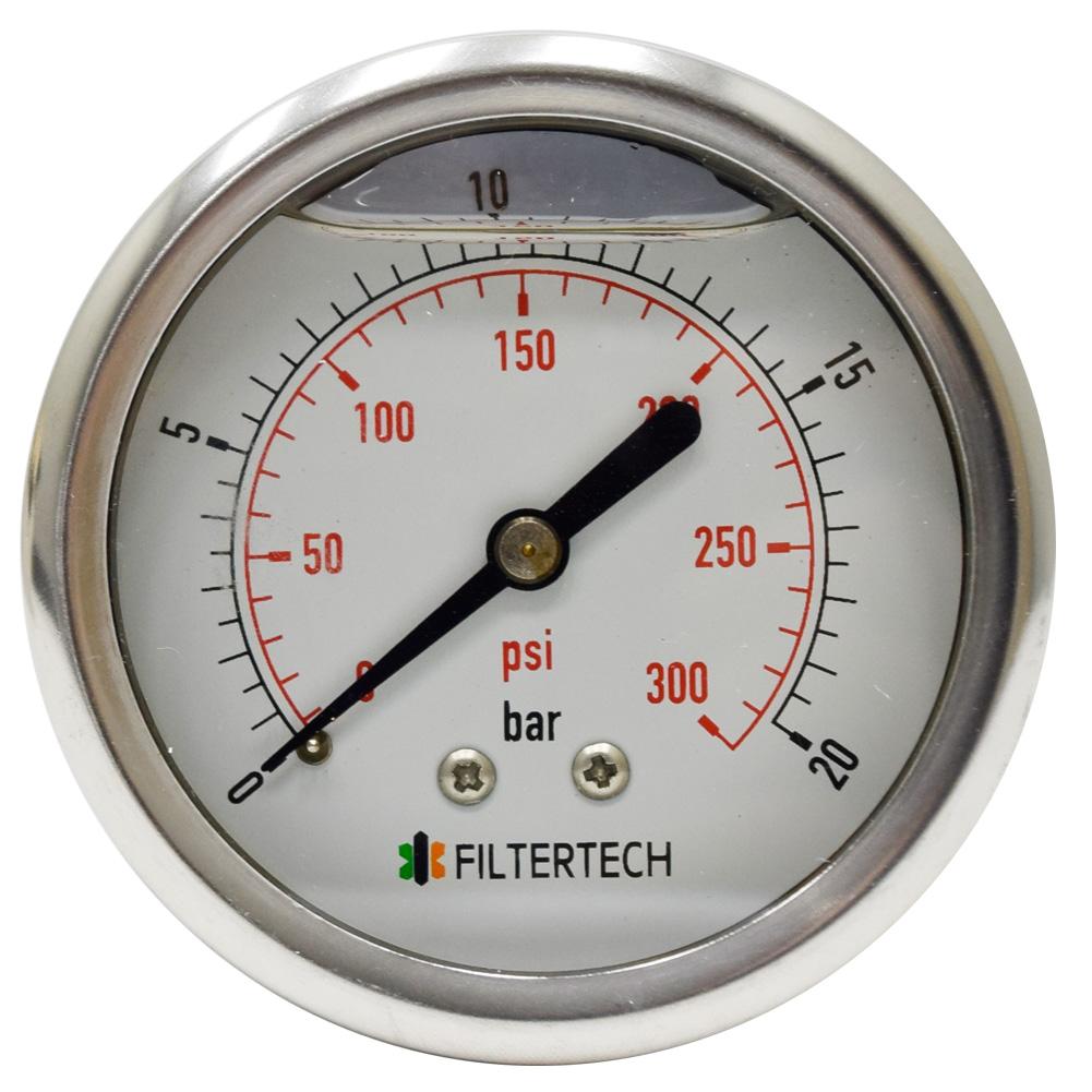삼개월 - 오일충만식 압력계 판넬식 직경62 0~20kgf/㎠ 8A(1/4) - pressure gauge panel type