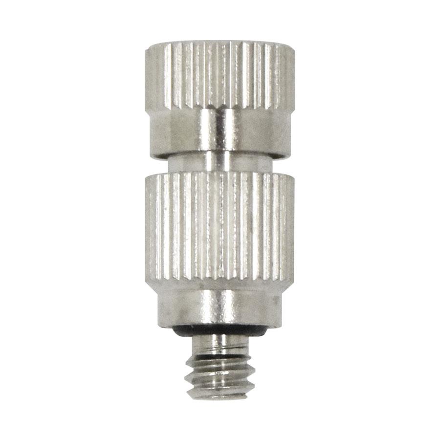 필터테크-세상의 모든 필터 FHMN-1024BC 10/24 0.1~0.5mm BRASS + 세라믹 - 쿨링포그시스템/가습/방역/고압 미스트노즐 분사노즐/포그노즐/안개노즐/냉각노즐/미세먼지저감노즐/폭염저감노즐 Brass + Ceramics fog nozzle Mist cooling system 10/24inch fitting stem type