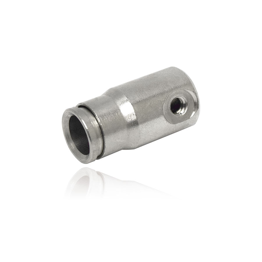 FN-6119 쿨링포그시스템 고압용 황동(크롬도금)70BAR 슬립락 원터치 엔드피팅 3/8:10/24