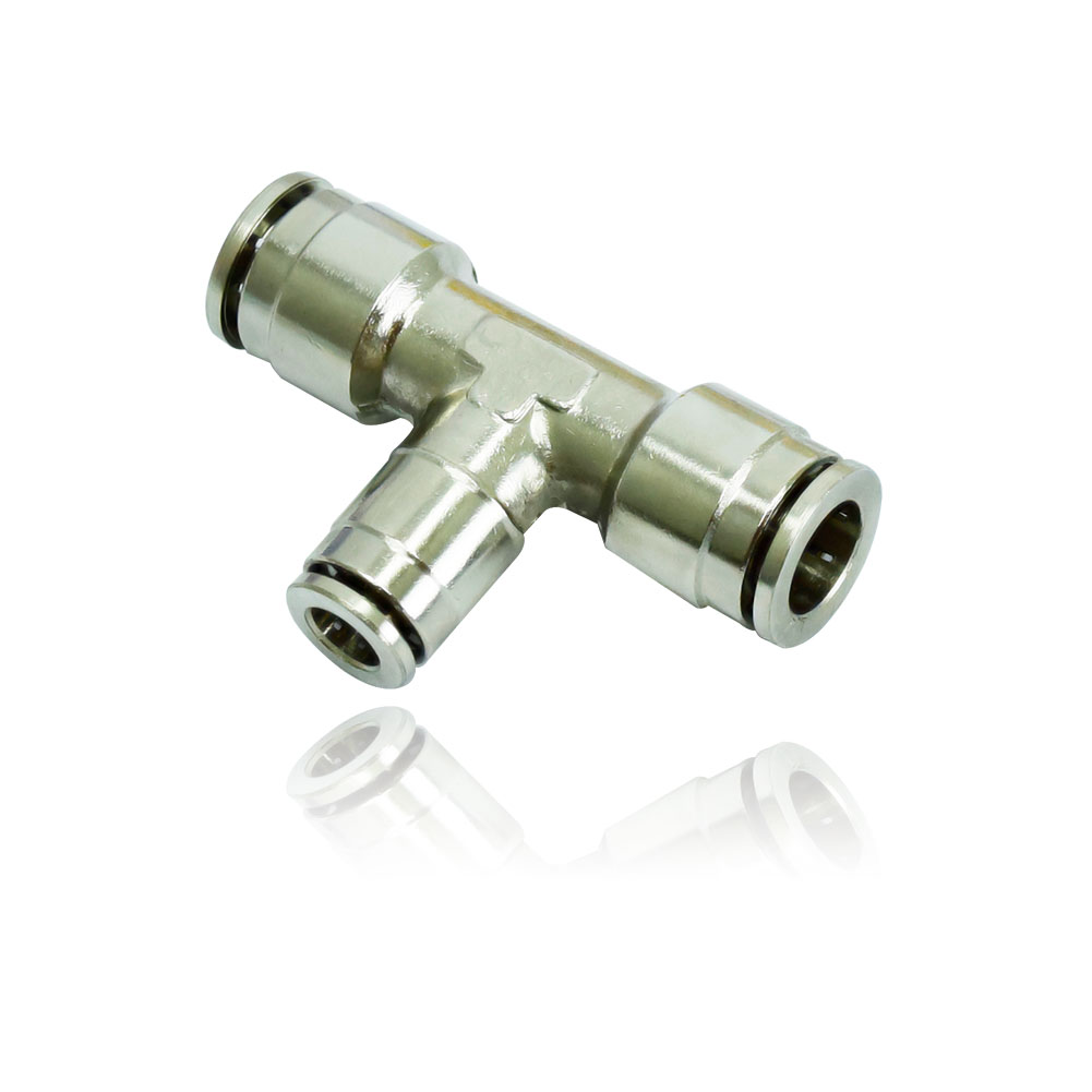 FN-6222 슬립락 T타입 3/8:1/4:3/8 - 쿨링포그시스템/방역용 황동(크롬도금) 70BAR 레듀싱티