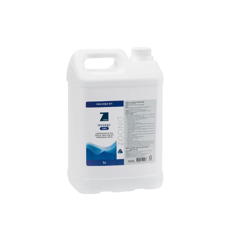 주노 마이크로쉴드 살균소독제 다용도 5L 무알콜 살균소독 -리필용