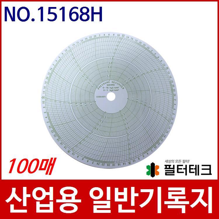 산업용  가스압력원형기록지 NO.15168H (200¢) 100매