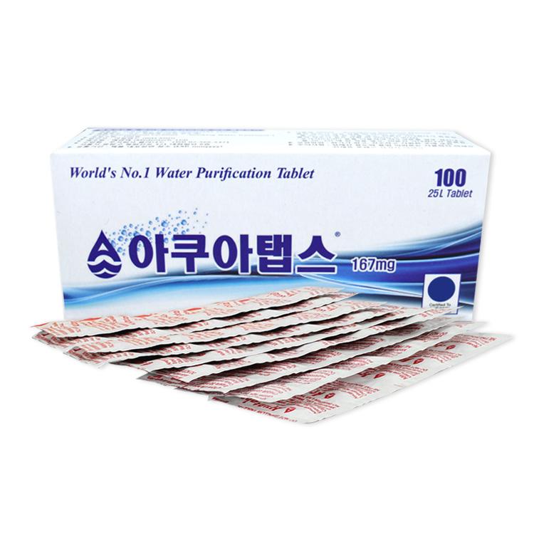 저수조소독약 내부세척 아쿠아탭스 100정 정수기부품