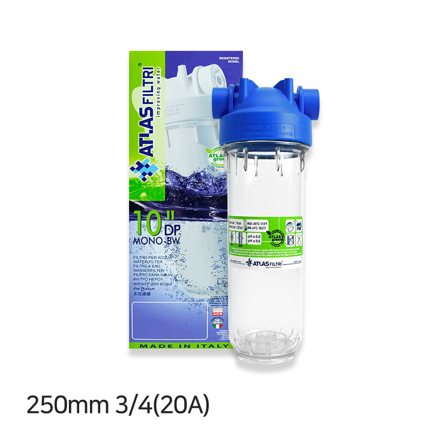 아트라스 PET 투명 하우징 250mm 3/4(20A)