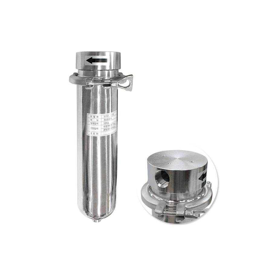 [SH10-1-C-1S1] SUS하우징 스테인레스하우징 신형 클램프 250mm 1(25A)