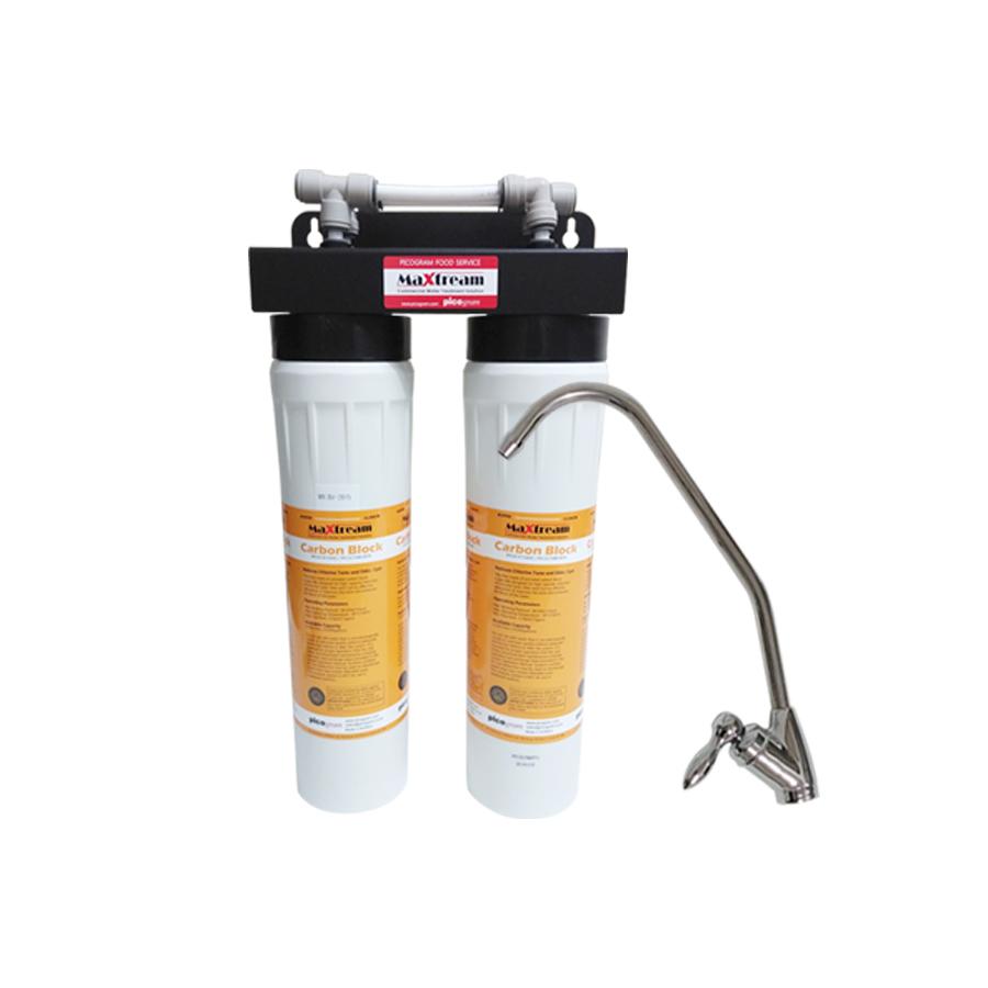 [Z]업소용 직수형 언더싱크 커피머신용 제빙기용 정수기 맥스트림 15인치 2단 MX-BV-2015 시스트제거
