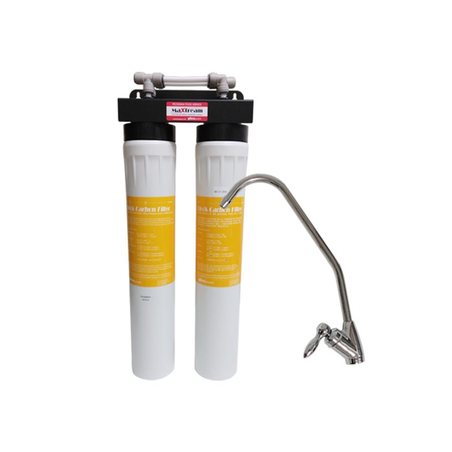 업소용 직수형 언더싱크 커피머신용 제빙기용 정수기 맥스트림 20인치 2단 MX-CT-2020