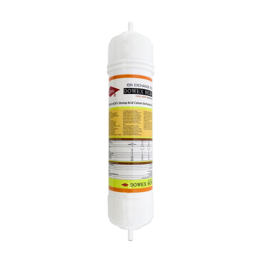 DOW HCR-S 양이온교환수지 필터 320mm (피팅형)