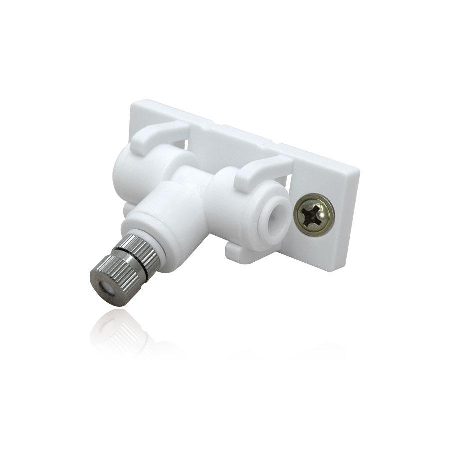 필터테크-세상의 모든 필터 쿨링포그 저압용 부품 세트 1/4:1/4:1/4 (마운팅클램프+T피팅+미스트노즐+나사2) Mounting Clamp+T Fitting+Mist Nozzle+Screw2