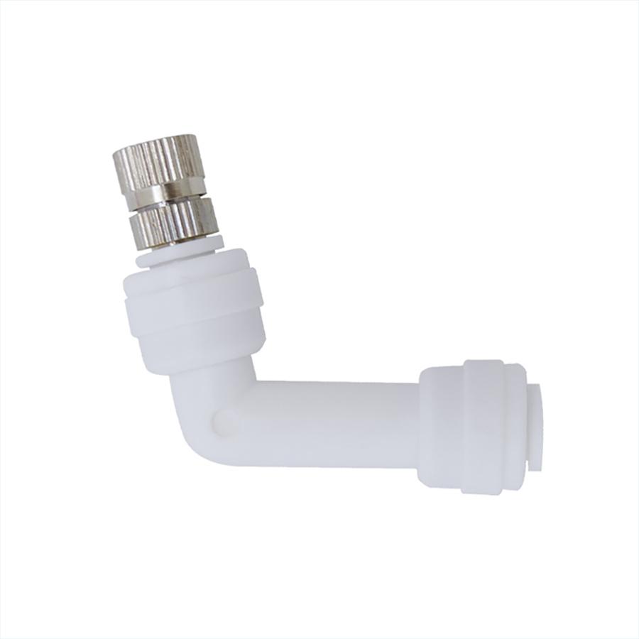 필터테크-세상의 모든 필터 엘보우 L피팅 ST-1000, 스프레이 분사노즐 1/4스템형 (노즐구멍 사이즈 선택) Elbow Fitting, Metal fog nozzle Mist Cooling System