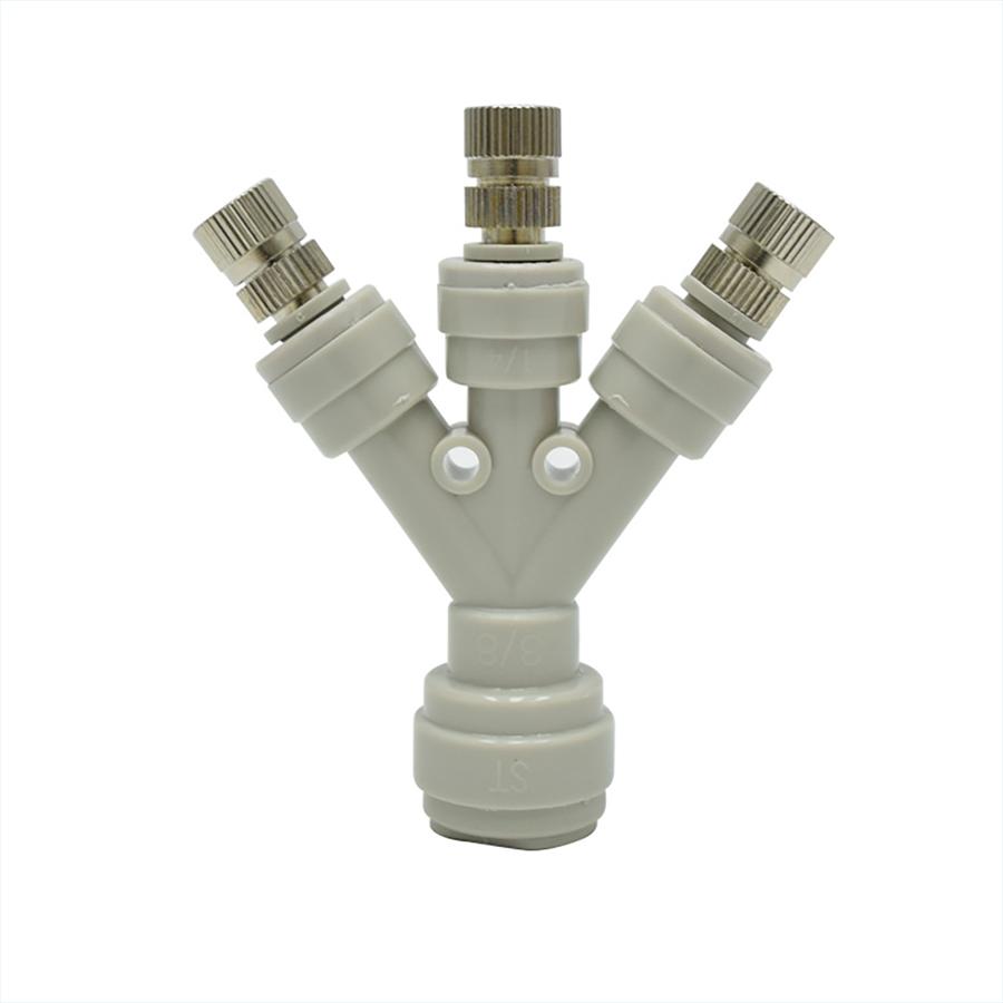 3구커넥터 Y피팅 ST-3300, 스프레이 분사노즐 1/4스템형 (노즐구멍 사이즈 선택)