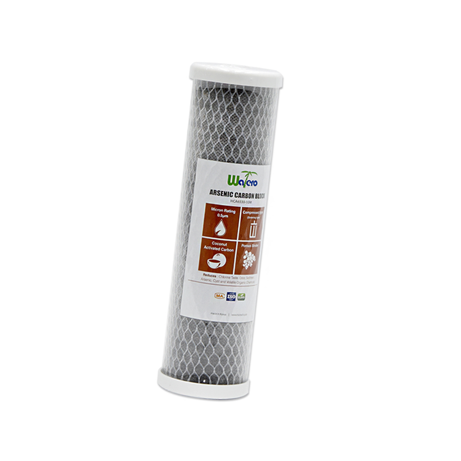 [Z]WATERO 산업용필터 HCA6530-10M 카본블럭필터 비소제거필터 250mm (10인치) 5마이크론 은파우더첨가 항균작용