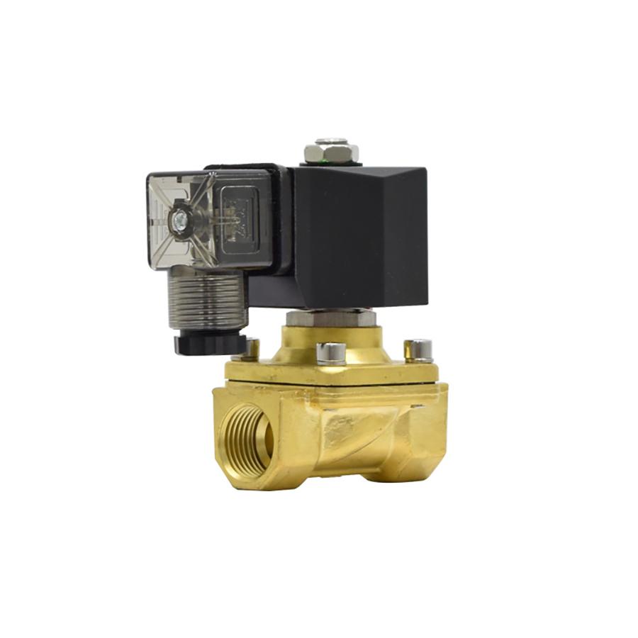 솔레노이드밸브 PU-15(DN15) 규격1/2인치 N.C 황동,SUS재질 솔밸브 물,기체,기름