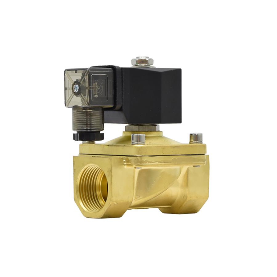 솔레노이드밸브 PU-25(DN25) 규격1인치 N.C 황동,SUS재질 솔밸브 물,기체,기름