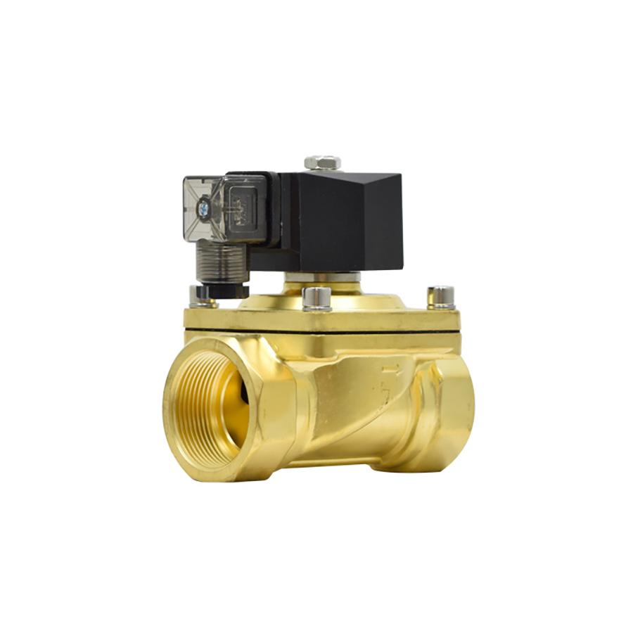 솔레노이드밸브 PU-40(DN40) 규격1-1/2인치 N.C 황동,SUS재질 솔밸브 물,기체,기름